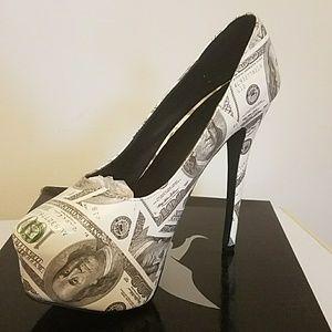 COPY - Money shoes heels green, white, gray